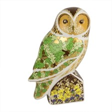 Royal Crown Derby Woodland Owl Paperweight