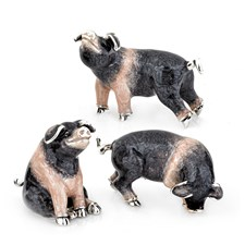 Sterling Silver Pigs, Trio