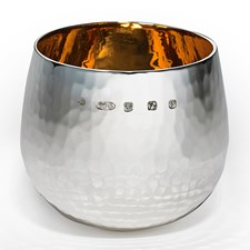 Silver Extra Heavy Hammered Brandy Tumbler