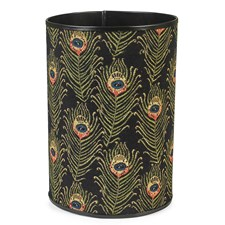 Peacock Feather Tapestry Wastebasket