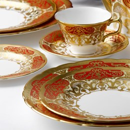 Royal Crown Derby Heritage Red & Cream