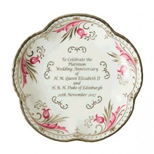 Royal Crown Derby Queen Elizabeth II 5 Petal Tray
