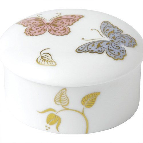 Royal Crown Derby Royal Butterfly Round Box