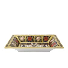 Royal Crown Derby Old Imari Solid Gold Band Tray