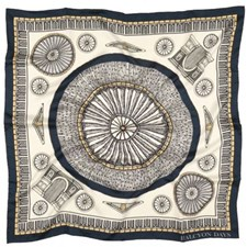 Halcyon Days Royal Albert Hall Navy Silk Scarf