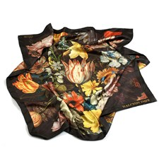 "Halcyon Days ""Still Life of Flowers in a Wan-Li Vase"" by Bosschaert Silk Scarf"