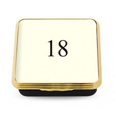 Halcyon Days Contemporary Number Boxes, Ivory