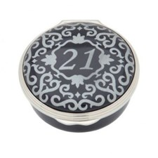 Halcyon Days Classic Number Boxes, Blue & Silver