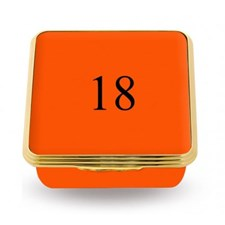 Halcyon Days Contemporary Number Boxes, Orange