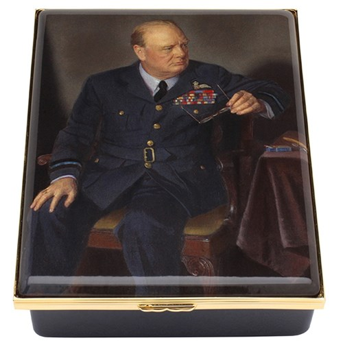 Halcyon Days Churchill Portrait By Chandor Prestige Box