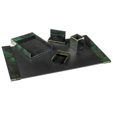 Crack Green Pen Shell Desk Set