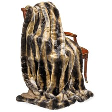 Faux Fur Chinchilla Wool Throw