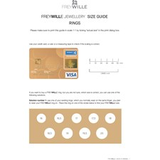 Freywille Vincent van Gogh Rings