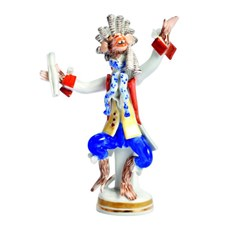 Meissen Monkey Orchestra Collection, Colored and Gold
