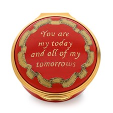 Halcyon Days You Are My Today Enamel Box