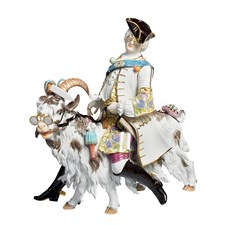 Meissen Tailor on a Goat