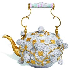 Meissen Teapot with Snowball Blossoms