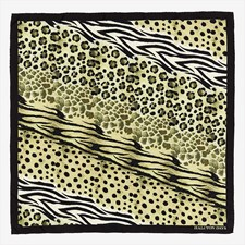 Halcyon Days Mixed Animal Print Silk Scarf