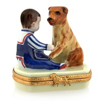 Boy with Dog Limoges Box