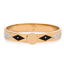 Halcyon Days Sparkle Parterre Hinged Bangle