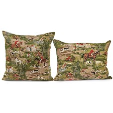 Horses & Hounds Tapestry Pillows