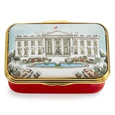 Halcyon Days Washington in the Snow Enamel Box