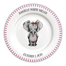 Baby Girl Personalized Plates