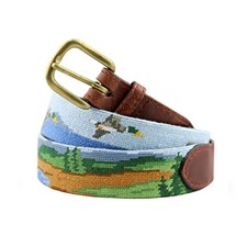 Great Outdoors Needlepoint Belt