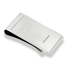 Ridged Sterling Silver Money Clip