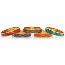 Halcyon Days Parterre Hinged Bangles, 13mm