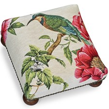 Kingfisher Tapestry Footstool