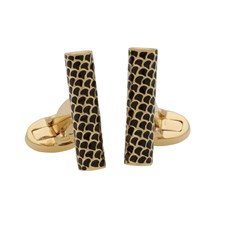 Halcyon Days Salamander Single Tube Gold Cufflinks