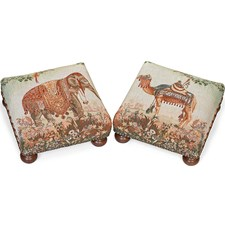 Arabian Animal Tapestry Footstools