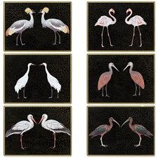 Glass Waterbirds Place Mats & Coasters