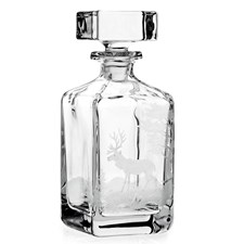 Queen Lace Crystal Whiskey Decanters