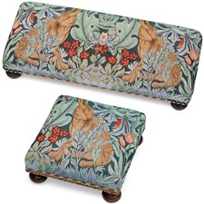 Morris Hare Tapestry Footstools