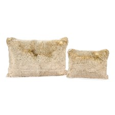 Faux Fur Beige Wool Pillows