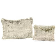 Faux Fur Gray Wool Pillows