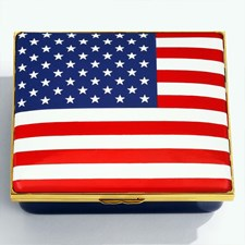 Halcyon Days The Stars and Stripes Enamel Box