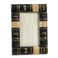 Leather Book Frame, Black