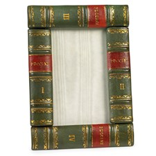 Leather Book Frame, Green