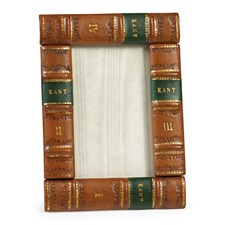 Leather Book Frame, Hazelnut