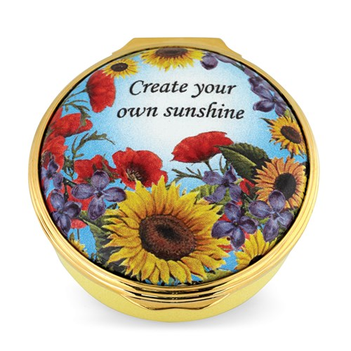 "Halcyon Days ""Create Your Own Sunshine"" Enamel Box"