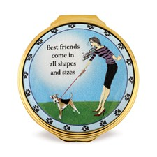 Halcyon Days Best Friends Enamel Box