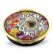 Halcyon Days Turn Back the Clock Enamel Box