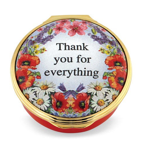 Halcyon Days Thank You For Everything Enamel Box