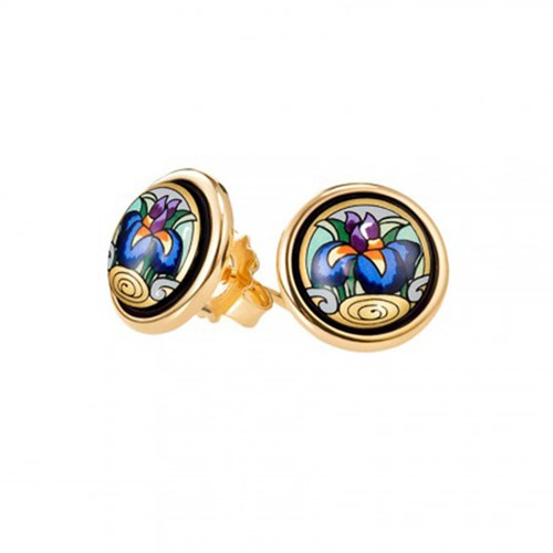 Freywille Claude Monet Iris Cabochon Stud Earrings