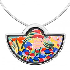 Freywille Claude Monet Giverny Large Half Moon Pendant
