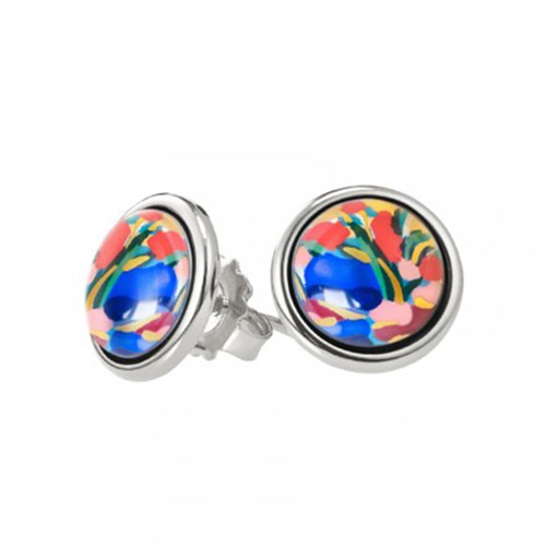 Freywille Claude Monet Giverny Cabachon Stud Earrings