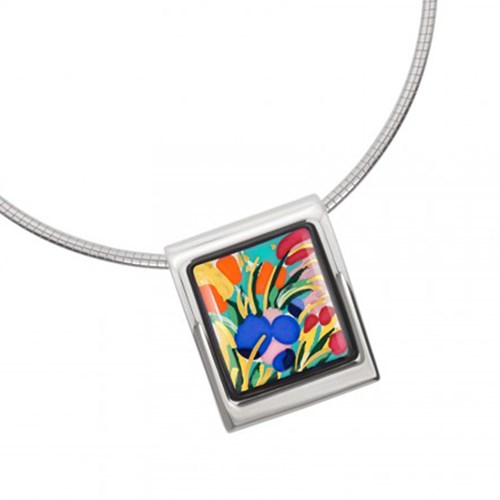 Freywille Claude Monet Giverny Square Pendant